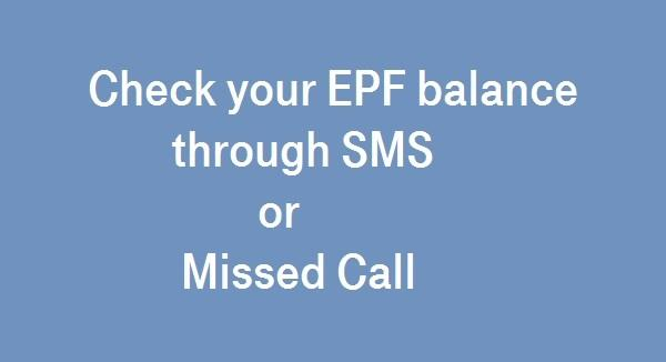 epf through missed call or SMS