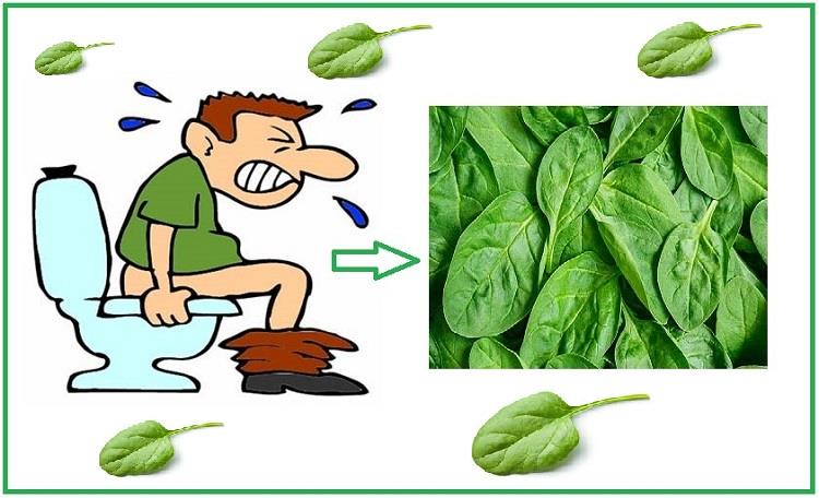 spinach and constipation